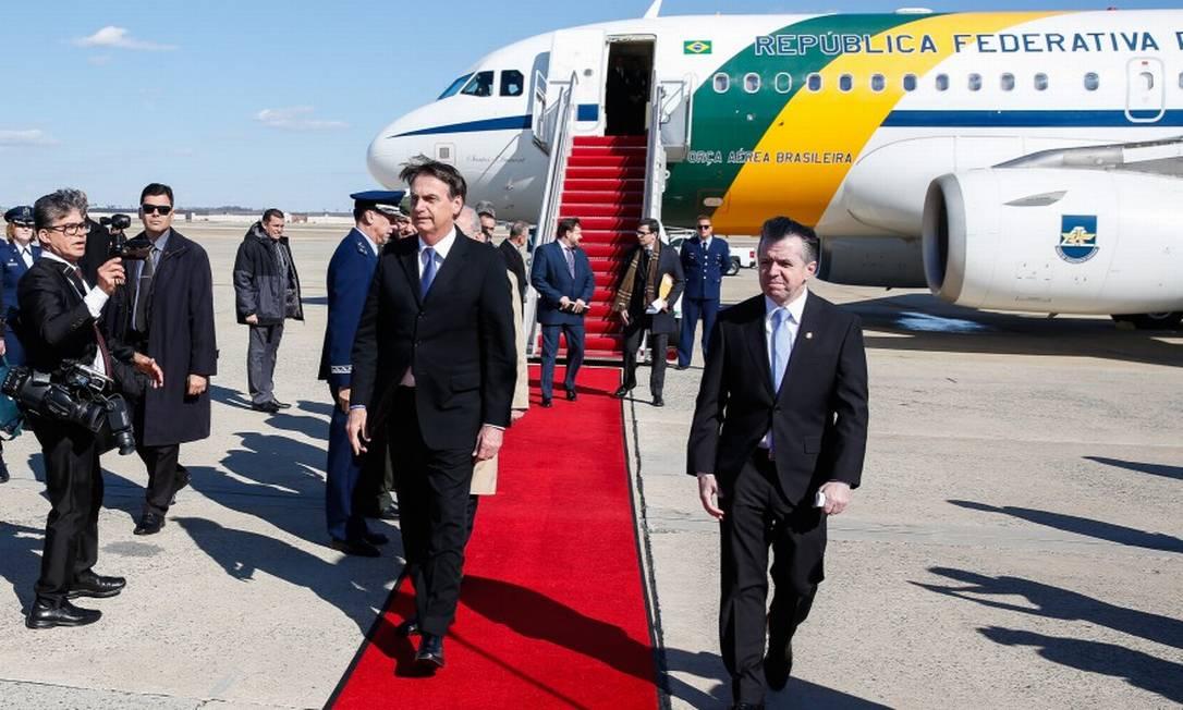 17/03/2019. Presidente Jair Bolsonaro chega a Washington DC, nos Estados Unidos. Foto: Divulgação PR Foto: Terceiro / Agência O Globo