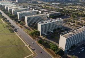 Esplanada dos Ministérios, em Brasília Foto: Brenno Carvalho / O Globo