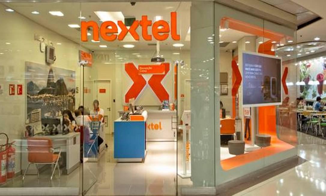 Loja da Nextel em shopping da Zona Sul do Rio Foto: . / Arquivo