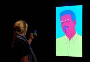 Retrato de George Michael feito por Michael Craig-Martin foi vendido em leilão Foto: TOBY MELVILLE / REUTERS