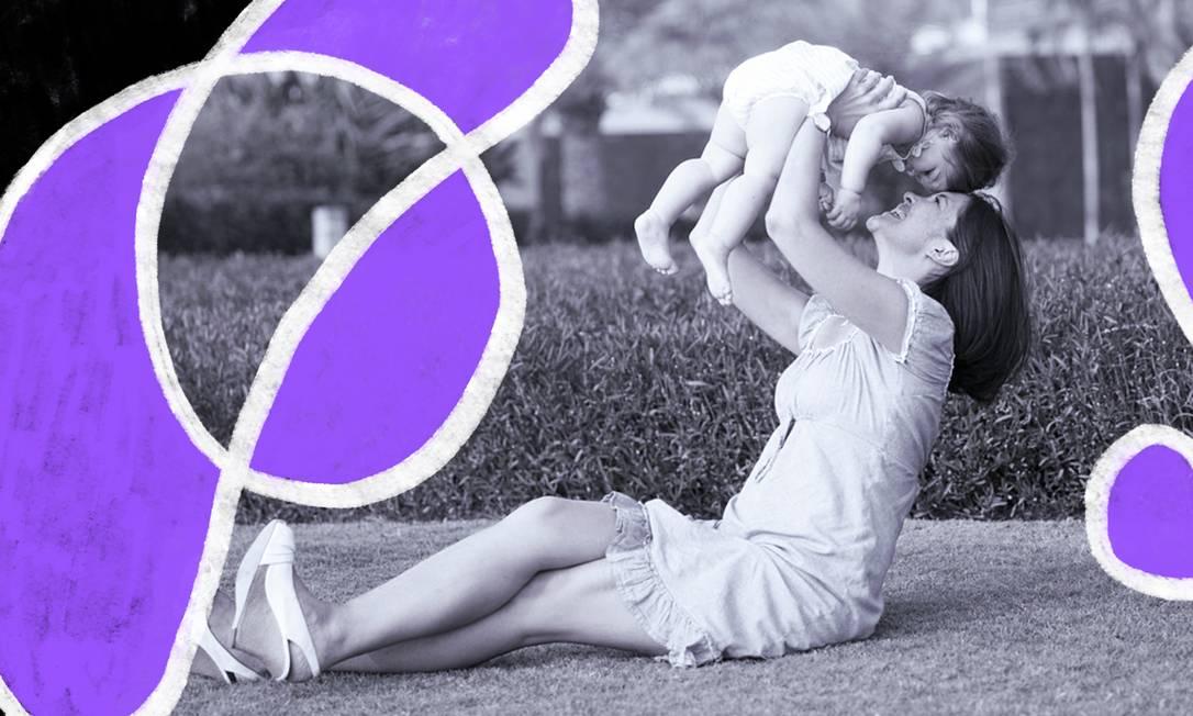 Estudo britânico mostra que as mulheres passam a se comportar como as mães por volta dos 33 anos Foto: Arte de Lari Arantes sobre foto Pixabay