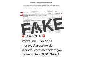 O sargento reformado da PM, Ronnie Lessa, não vive em imóvel que pertece ao presidente Bolsonaro Foto: Reprodução