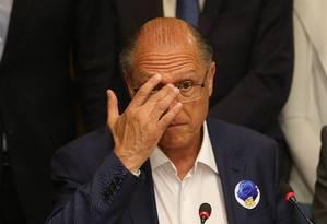 Presidente nacional do PSDB, Geraldo Alckmin disse que governo Bolsonaro precisa deixar de ser sectário Foto: Ailton de Freitas / Agência O Globo (09/10/2018)