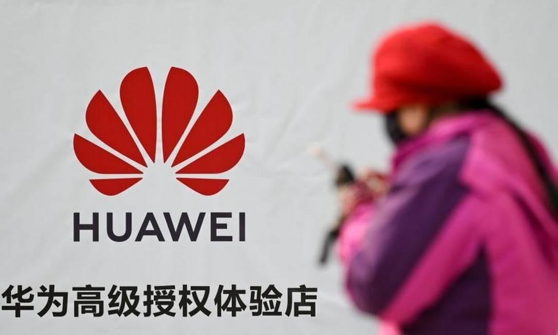 Huawei: batalha em torno do 5G é o grande pano de fundo da guerra comercial entre Estados Unidos e China Foto: AFP