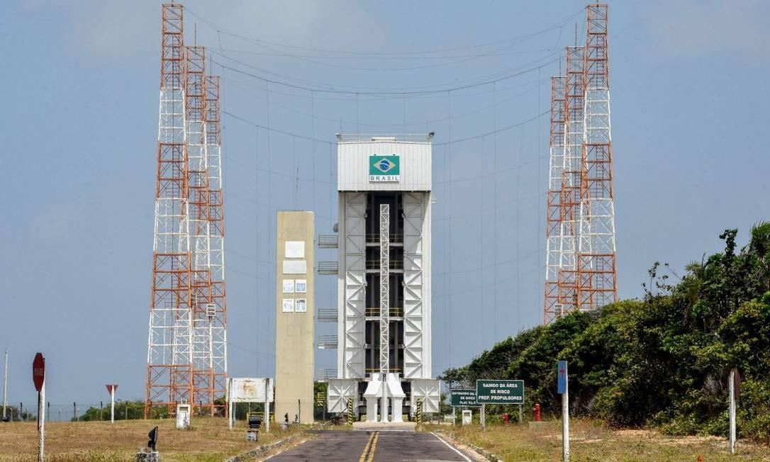 Torre de lançamento de foguetes em Alcântara Foto: EVARISTO SA / AFP 14-09-18