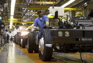 Fábrica da MAN que produz caminhões e ônibus da Wolkswagen em Resende Foto: Márcia Foletto / Agência O Globo