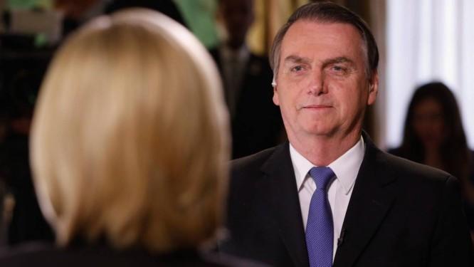 Presidente da República Jair Bolsonaro concede entrevista para Shannon Bream, apresentadora da Fox News Foto: Terceiro / Alan Santos - PR- 18-03-19