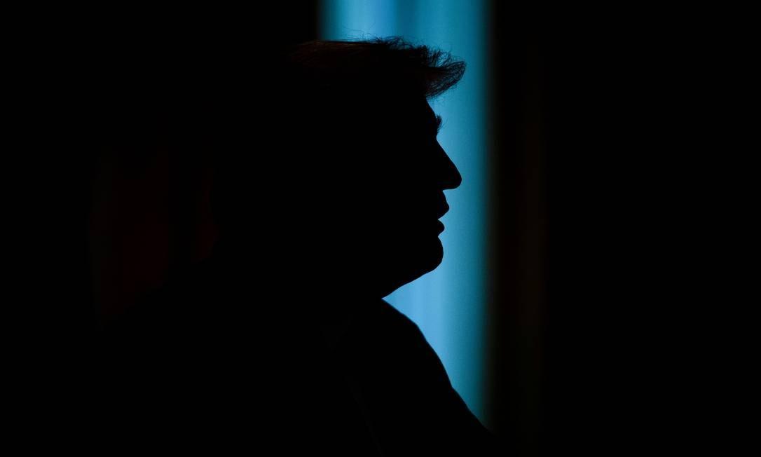 O presidente dos EUA, Donald Trump, fala durante uma recepção em homenagem ao Dia da Independência da Grécia, na Sala Leste da Casa Branca, em Washington, DC Foto: SAUL LOEB / AFP