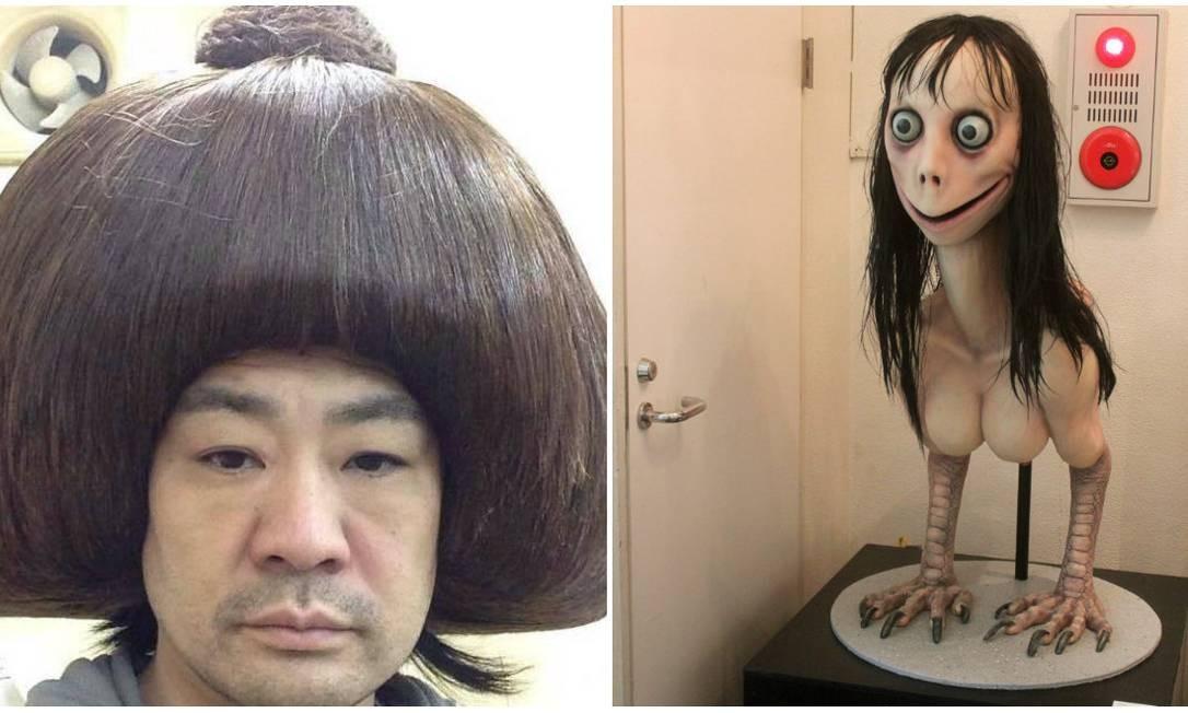 Keisuke Aiso, o criador da escultura que ficou conhecida como Momo Foto: Reprodução
