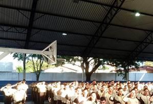 Colégio Estadual Américo Antunes, em Goiás Foto: Reprodução Facebook