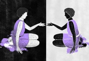 """""""A verdade é que de dentro da minha bolha branca eu nunca me interessei em ler ou entender qualquer questão relacionada ao negro no Brasil"""", diz a jornalista Andrea Assef Foto: Arte de Lari Arantes"""