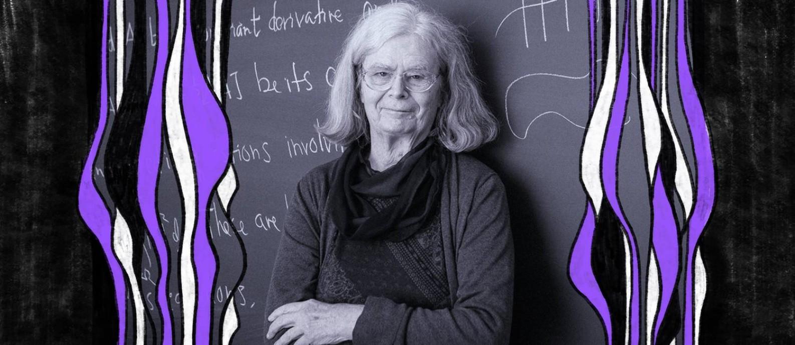 """Karen Uhlenbeck: """"Eu certamente me senti mal, durante toda a minha carreira, por ser uma mulher. Isto é, eu nunca me senti como um dos 'caras'"""" Foto: Andrea Kane/Instituto de Estudos Avançados da Universidade Princeton"""