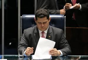 O presidente do Senado, Davi Alcolumbre (DEM-AP) 19/02/2019 Foto: Jorge William / Agência O Globo