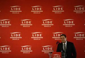 O vice-presidente Hamilton Mourão participa de almoço no Lide Foto: Daniel Marenco/Agência O Globo