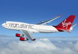 Avião da Virgin Atlantic, que terá voo direto entre São Paulo e Londres a partir de 2020 Foto: Divulgação