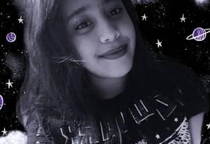 Letícia de Mello Nunes, 15, sobreviveu ao ataque a sua escola em Suzano e sonha se tornar astrônoma Foto: Arte de Lari Arantes sobre arquivo pessoal