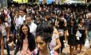 Alunos chegam para fazer a prova do Enem em Brasília Foto: Jorge William / Agência O Globo