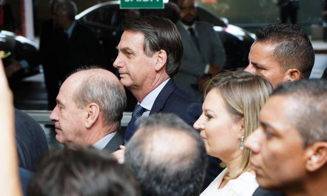 O presidetne Jair Bolsonaro na chegada ao Congresso para entrega da proposta que muda o sistema de Previdência dos militares Foto: Will Shutter / Câmara