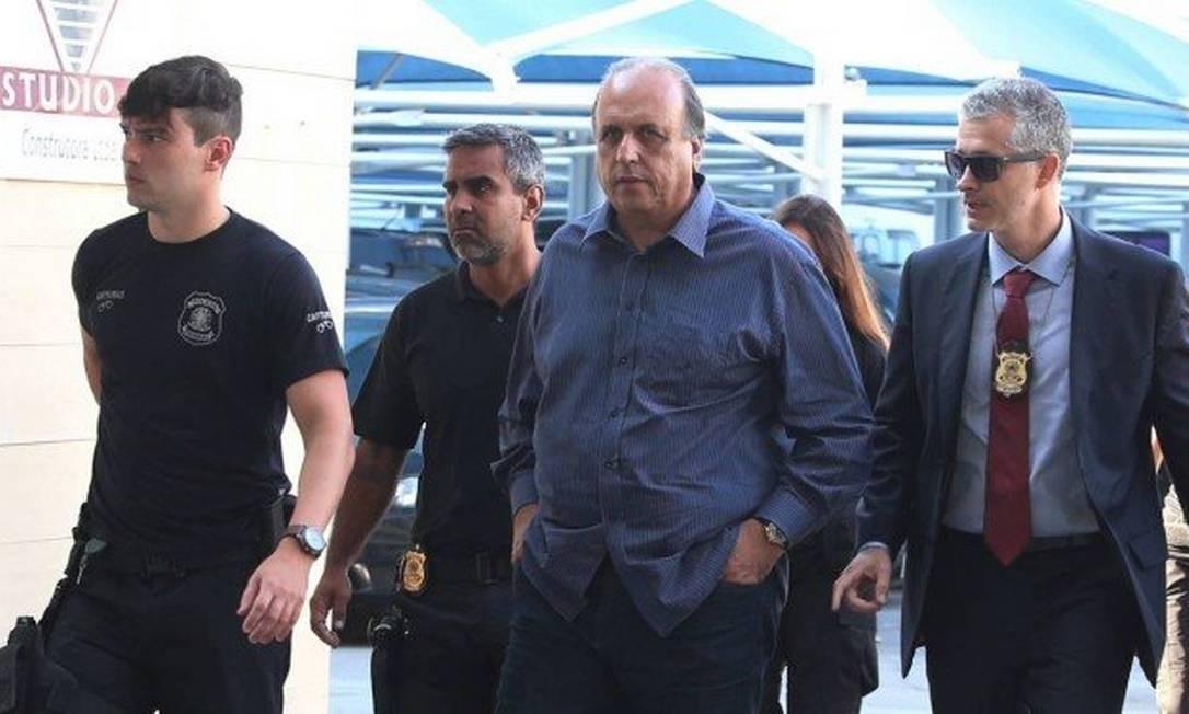Pezão está preso desde o ano passado Foto: Fabiano Rocha