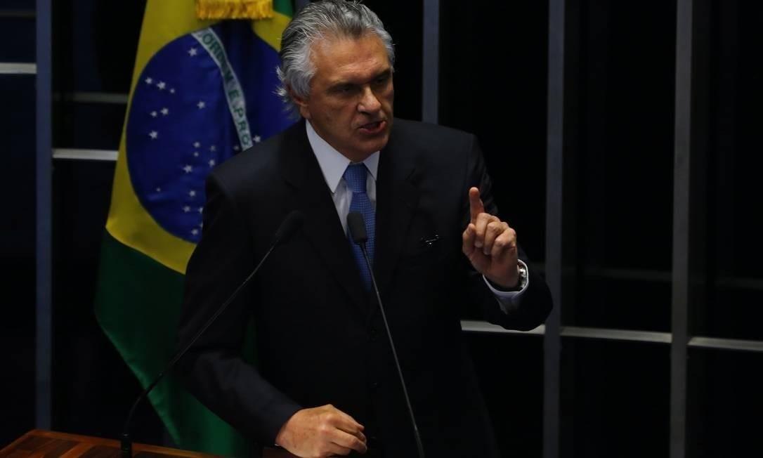 Ronaldo Caiado no Congresso Foto: Ailton de Freitas / Agência O Globo