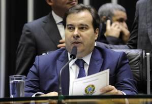 Maia chegou a ameaçar abandonar as conversas para avançar nas discussões da reforma da Previdência Foto: Luis Macedo / Câmara