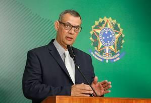 O porta-voz da Presidência, Otávio Rêgo Barros, durante pronunciamento Foto: PR / Anderson Riedel/Presidência