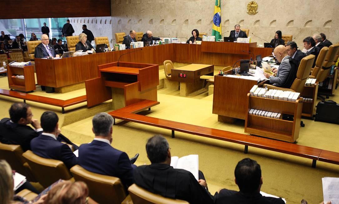 Sessão plenária do STF Foto: Nelson Jr / Divulgação/ STF