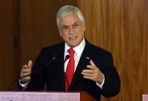 Piñera: críticas por convite a Bolsonaro Foto: Givaldo Barbosa / Agência O Globo