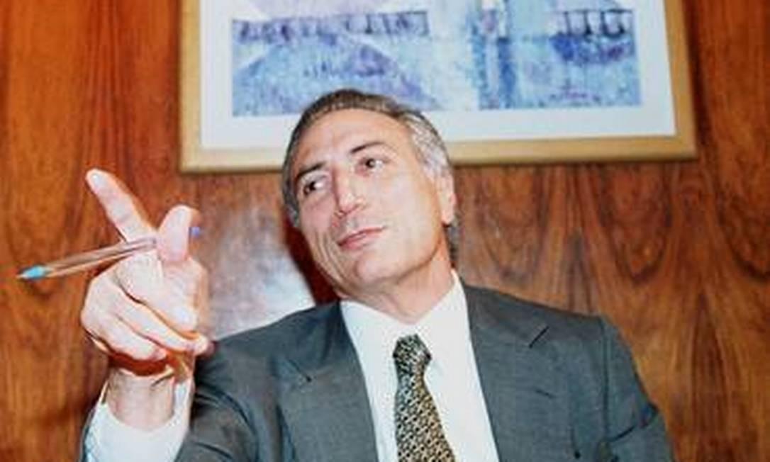 Michel Temer quando era presidente da Câmara. Ele havia sido eleito em 1997 Foto: Ailton de Freitas / Agência O Globo