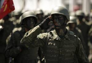 Cerimônia vai contar com tropas em forma nos quartéis Foto: Pablo Jacob