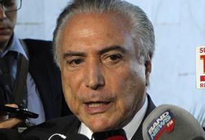 O ex- presidente Michel Temer foi preso na manhã desta quinta-feira em São Paulo Foto: Givaldo Barbosa / Agência O Globo