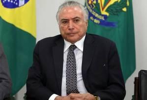 O ex-presidente Michel Temer (MDB-SP) Foto: Givaldo Barbosa / Agência O Globio