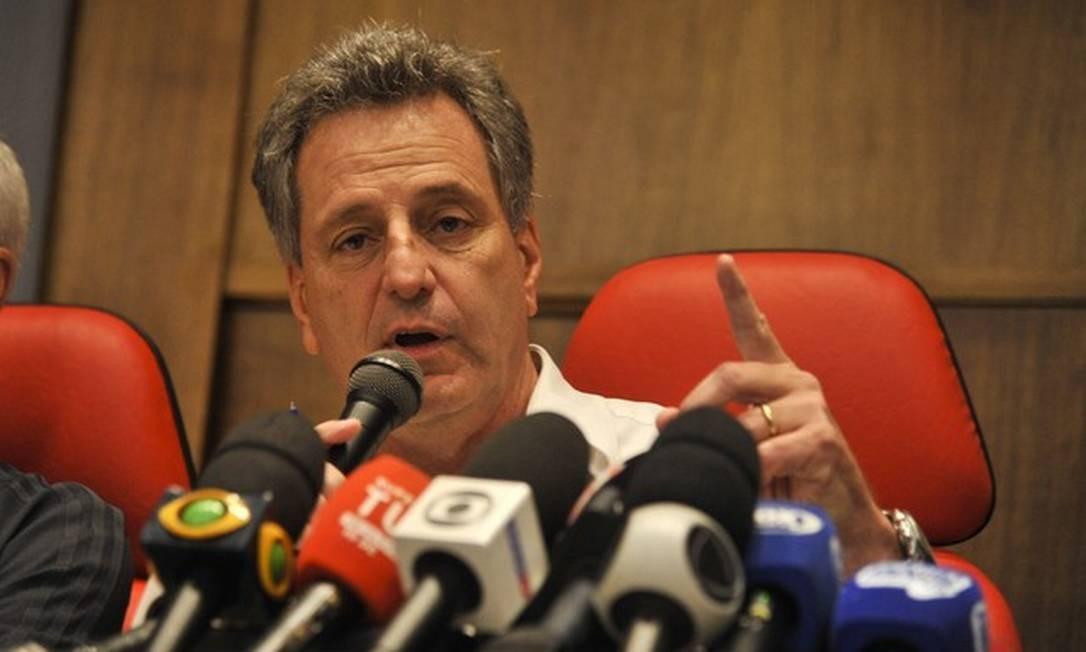 Presidente do Flamengo, Rodolfo Landim, depôs na 42ª DP Foto: Marcelo Cortes / Flamengo