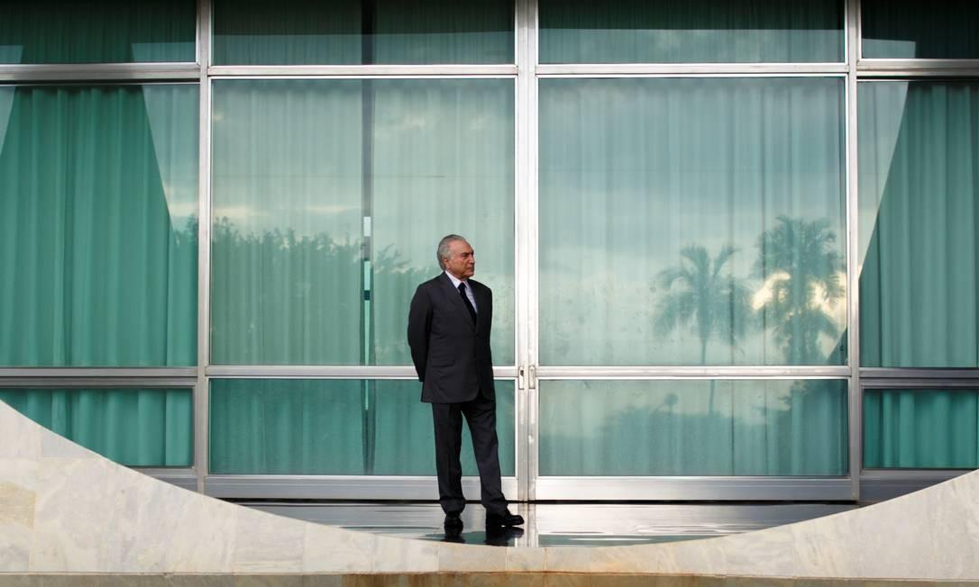 O então presidente Michel Temer, em novembro de 2018 Foto: Daniel Marenco / Agência O Globo