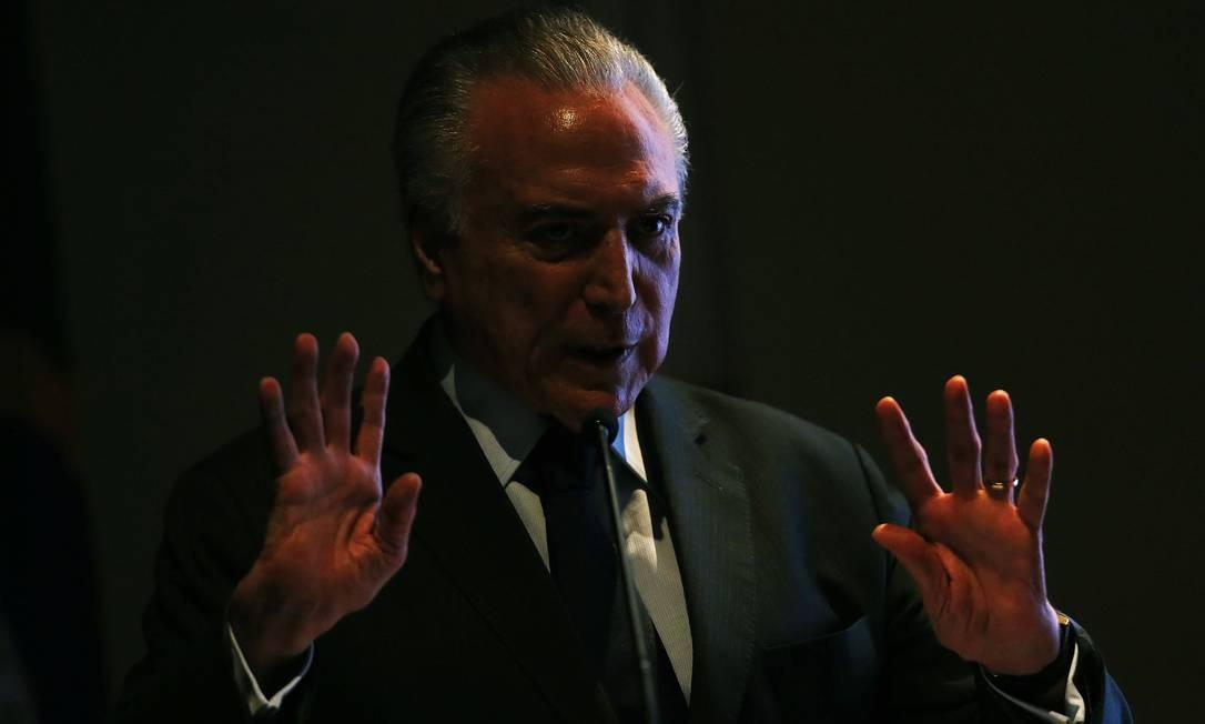 Temer assumiu a Presidência após o impeachment de Dilma Rousseff, de quem era vice. Ele ficou no cargo de maio de 2016 a 1º de janeiro de 2019 Foto: Jorge William / Agência O Globo
