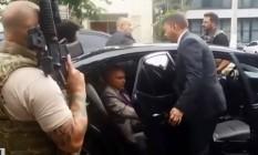 Momento da prisão do ex-presidente Michel Temer em São Paulo Foto: Reprodução