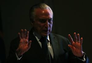 Michel Temer em novembro de 2018 Foto: Jorge William / Agência O Globo