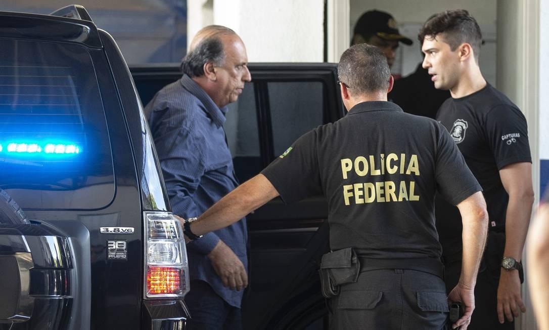Governador do estado entre 2014 e 2018, Pezão está preso desde novembro do ano passado por montar uma rede nos órgãos de fiscalização e controle do estado para encobrir os casos de corrupção Foto: Alexandre Cassiano / Agência O Globo