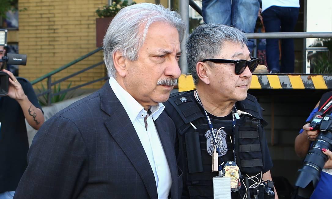 Dono da Engevix, José Antunes Sobrinho foi preso pela Lava-Jato em 2015 e negociou acordo de delação premiada Foto: Geraldo Bubniak / Agência O Globo (22/09/2015)