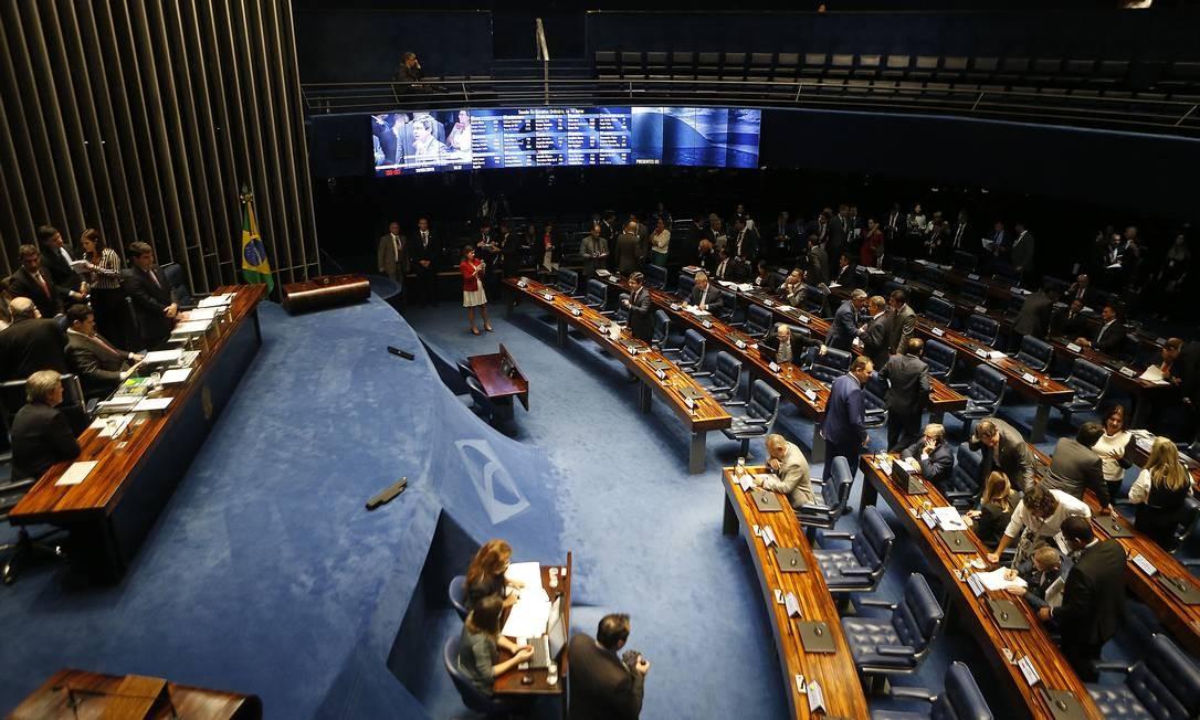 Sessão plenária do Senado Federal Foto: Jorge William / Agência O Globo