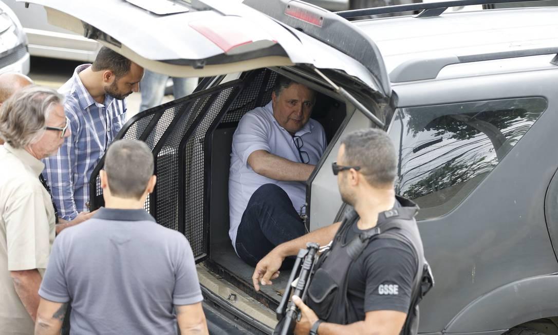 Anthony Garotinho: ex-governador do Rio foi detido em novembro de 2017 em função de suspeitas de superfaturamento em contratos ligados à construção de conjuntos habitacionais Foto: Domingos Peixoto / Agência O Globo