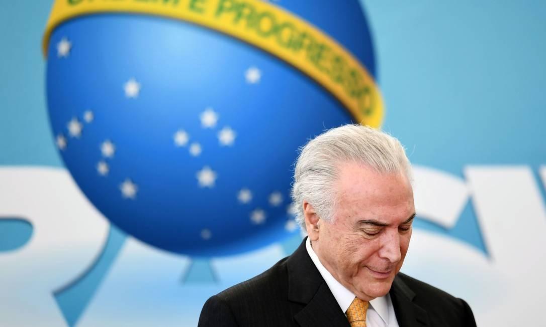 O ex-presidente Michel Temer 22/05/2018 Foto: EVARISTO SA / AFP
