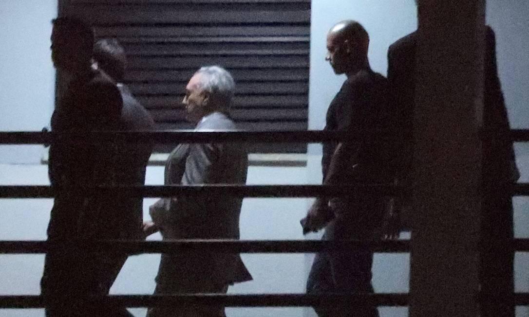 Ex-presidente Michel Temer na superintendência da Polícia Federal no Rio Foto: RICARDO MORAES / REUTERS