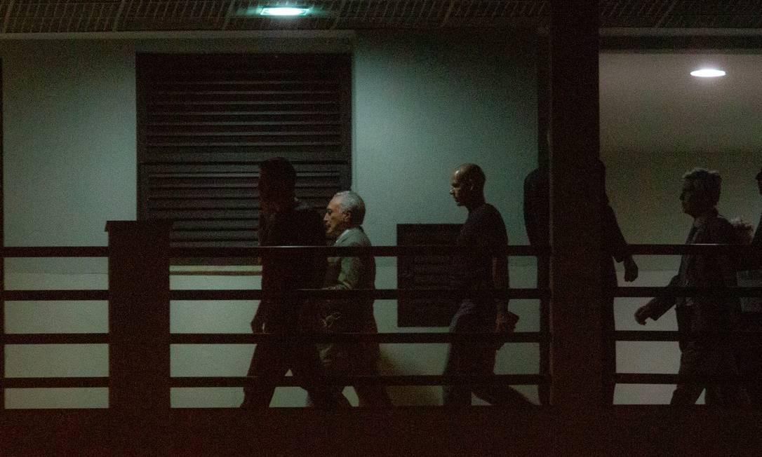 Michel Temer chega à Superintendência da PF no Rio . Foto Antonio Scorza / Agência O Globo Foto: Antonio Scorza / Agência O Globo