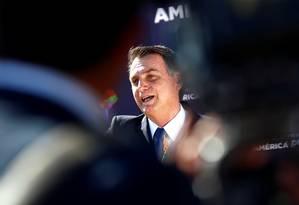 O presidente Jair Bolsonaro em viagem ao Chile Foto: STRINGER / REUTERS