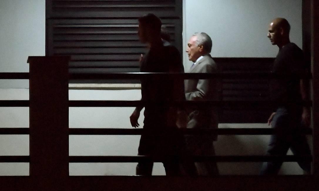Temer é preso na superintendência da PF do Rio Foto: Antonio Scorza / O Globo
