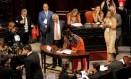 A deputada Dani Monteiro, no dia de sua posse na Alerj. Na última semana, a parlamentar relatou casos de discriminação racial dentro da assembleia e pediu providências para a presidência da instituição Foto: Marcelo Theobald