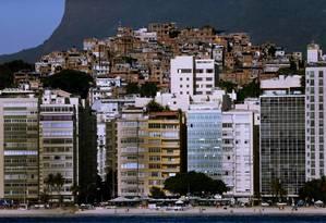 Vista da favela do Morro dos Tabajaras, em Copacabana Foto: Antonio Scorza / Agência O Globo / 30-01-2019