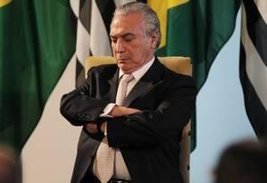 O ex-presidente Michel Temer (MDB-SP) Foto: Michel Filho / Agência O Globo