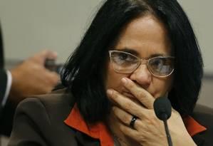 Damares: negativa à Procuradoria Federal dos Direitos do Cidadão Foto: Jorge William / Agência O Globo/21-02-2019